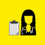 Health professional design Royalty Free Stock Image