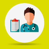 Health professional design. Illustration eps10 graphic Royalty Free Stock Images