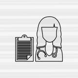 Health professional design. Illustration eps10 graphic Royalty Free Stock Image
