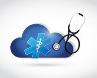 Health protection cloud computing illustration Royalty Free Stock Photography