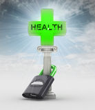 Health protection concept with flare in heaven Royalty Free Stock Photo