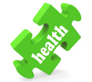 Health Puzzle Shows Healthy Medical And Wellbeing Royalty Free Stock Image