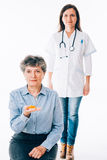 Health recommendation for senior patient Stock Photography