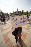 Health Reform Demonstration at UCLA Royalty Free Stock Image