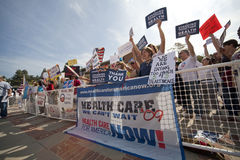 Health Reform Demonstration at UCLA Stock Photography
