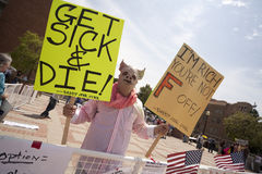 Health Reform Demonstration at UCLA Royalty Free Stock Photos