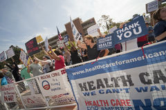 Health Reform Demonstration at UCLA Stock Images