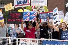 Health Reform Demonstration at UCLA Stock Photo
