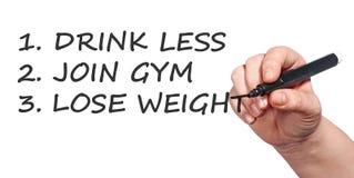Health resolutions stock photo
