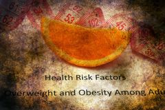 Health risk factors grunge concept royalty free stock images