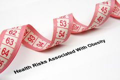 Health risk factors  - overweight and obesity Stock Photos