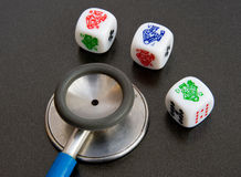 Health risk ? Gambling with your health. royalty free stock image