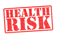 HEALTH RISK Rubber Stamp stock photography