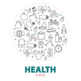 Health Round Concept Stock Image