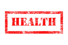 Health rubber stamp. In red ink with white background Royalty Free Stock Photos