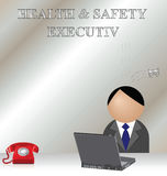 Health and safety. Ironic accident at the health and safety executive office Stock Photos