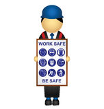 Health and safety royalty free illustration