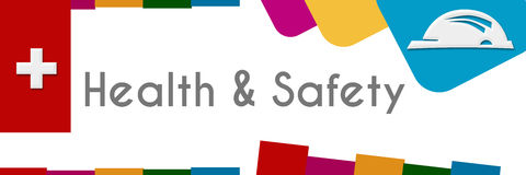Health And Safety Abstract Colorful Shapes Royalty Free Stock Photography