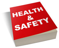 Health and safety book manual Royalty Free Stock Images