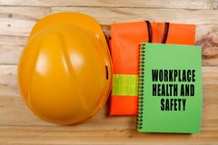 HEALTH,SAFETY & ENVIRONMENT CONCEPTUAL with general texts and st stock images