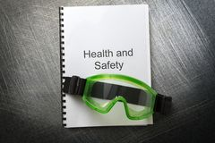 Health and safety with goggles Stock Image