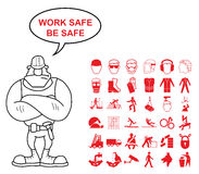 Health and Safety Graphics Stock Photo