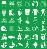 Health and Safety Graphics Stock Image