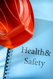 Health and safety with helmet Royalty Free Stock Images
