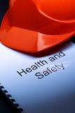 Health and safety with helmet Royalty Free Stock Photo