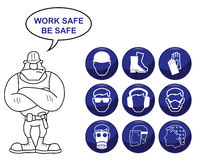 Health and Safety Icons Royalty Free Stock Image
