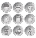 Health and Safety Icons Royalty Free Stock Photo