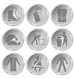 Health and Safety Icons Stock Photos