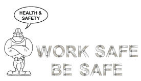 Health and Safety Message Stock Image
