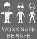 Health and Safety Message Royalty Free Stock Image