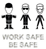 Health and Safety Message Stock Images