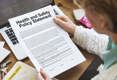 Health and Safety Policy Statement Form Concept Royalty Free Stock Images