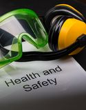 Health and safety register Royalty Free Stock Image