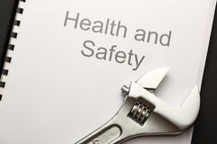 Health and safety register Stock Image