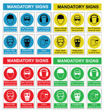 Health and safety sign collection Stock Photography