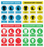 Health and safety sign collection Royalty Free Stock Images