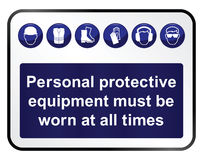 Health and safety Sign royalty free illustration