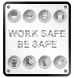 Health and Safety Sign Stock Image