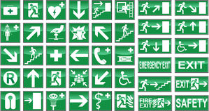 Health Safety Signs Sign Signal Signals Collection Stock Images