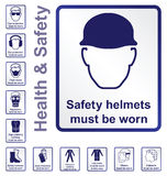 Health and safety Signs Royalty Free Stock Images