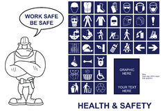 Health and Safety signs stock illustration
