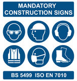 Health and Safety Signs Royalty Free Stock Photos