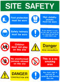 Health and safety warning messages royalty free stock images