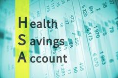 Health savings account Royalty Free Stock Photo