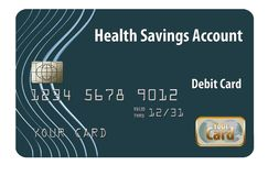 This is a health savings account debit card. vector illustration