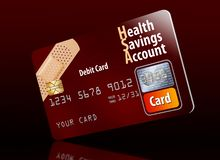 This is a health savings account debit card. royalty free illustration